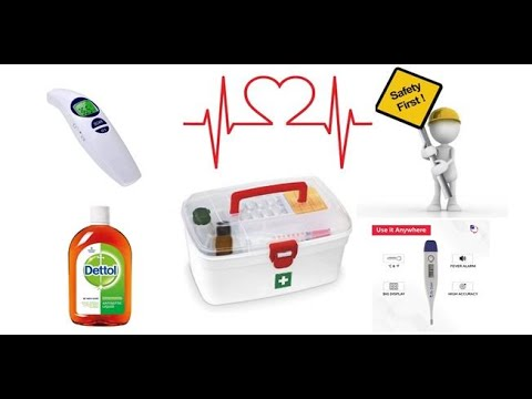 What should have basic items in a home First Aid box!!!