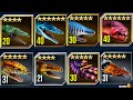 ALL Aquatic Dinosaurs Unlocked In Lagoon Show Case - Jurassic World The Game