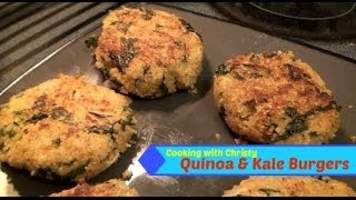 Cooking With Christy: Vegetarian Quinoa & Kale Burger Patties!