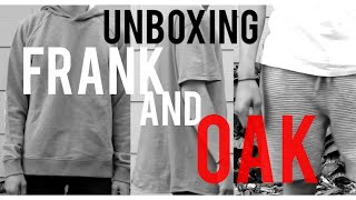 Unboxing from @ Frank and Oak!