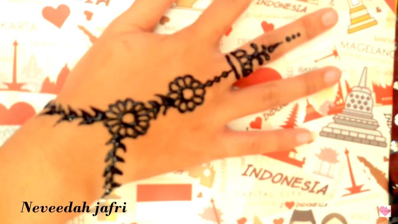 ᴴᴰ beautiful simple henna art - YouTube