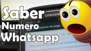 como saber mi numero de whatsapp samsung Galaxy S3 i9300 español Full HD