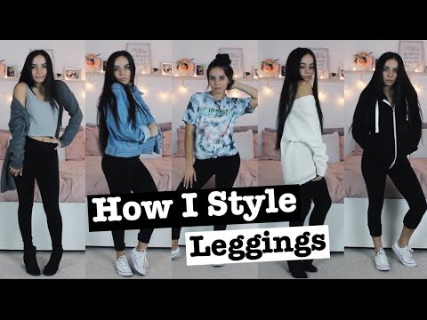 How I Style Leggings I Comfy Outfits For The Fall , YouTube