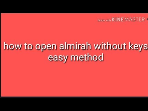 How To Open Almirah Wardrobe Without Keys Inner Lock Easy