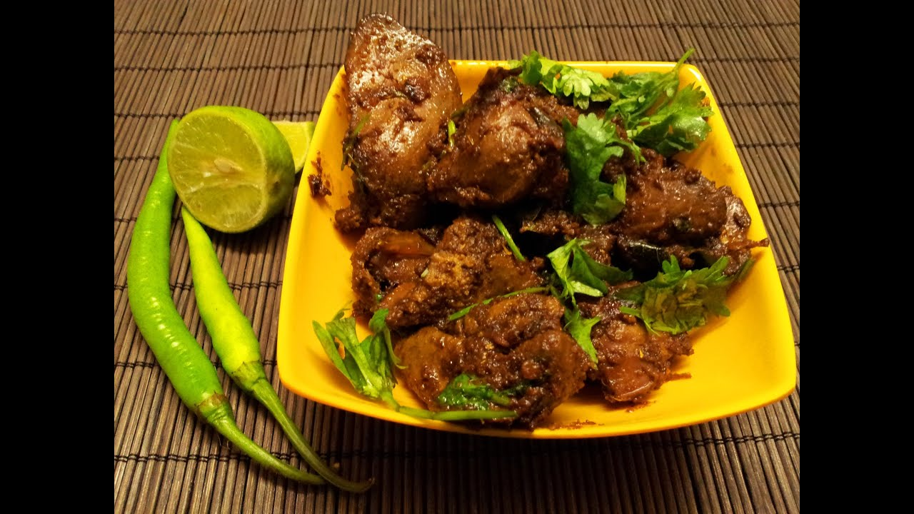 Fried Chicken Livers chicken liver fry-andhra style spicy liver masala ...