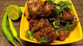 Chicken Liver Fry-Andhra style spicy liver masala