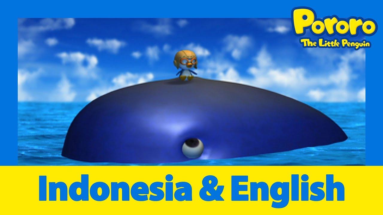 Belajar Bahasa Inggris l Pororo bertemu paus l Animasi Indonesia | Pororo Si Penguin Kecil