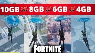 Fortnite   4gb vs 6gb vs 8gb vs 10gb   Ram Test   2020
