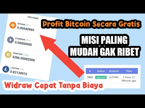Dapat Bitcoin Gratis ! Situs Penghasil Bitcoin Tanpa Deposit !Fast Widrawel