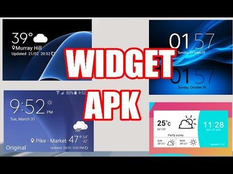Widget Apk (SAMSUNG, XIAOMI, LG, HTC ,SONY vb ) | 2017