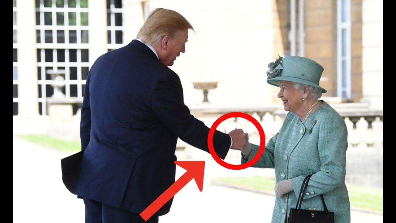 WHAT'S WITH PRESIDENT TRUMP AND QUEEN ELIZABETHS SECRET HANDSHAKE???