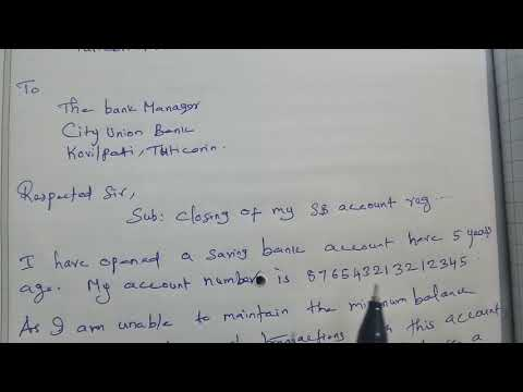 How to write Letter to Close Bank Accounts