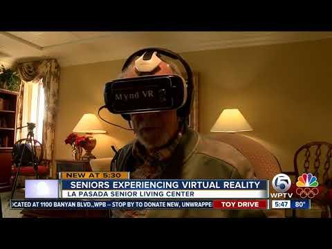 Seniors experiencing virtual reality