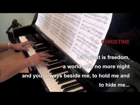 Phantom of the Opera - All I ask of you piano / lyrics