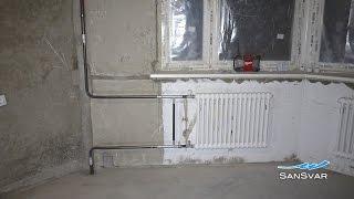 Замена конвекторов отопления с заморозкой труб