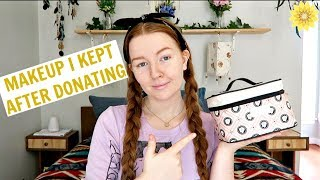 I GAVE ALL MY MAKEUP AWAY BUT THIS IS WHAT I KEPT | MEGHAN HUGHES