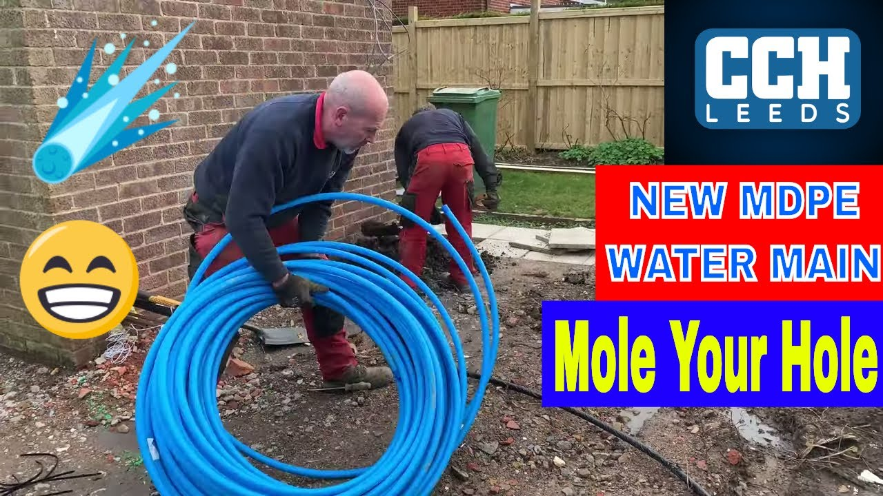 Mdpe Water Mains Installation No Digging Moling Trenchless