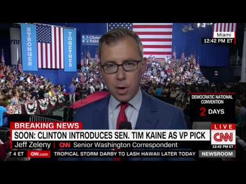 "CNN's Jeff Zeleny: DNC Email Leaks Are Like ""Pouring Gasoline On What Had Been A Doused Fire"""