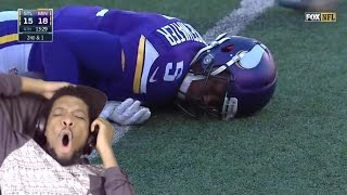 THIS ISN'T EVEN FUNNY BRUH! 10 KNOCKOUTS IN THE NFL REACTION
