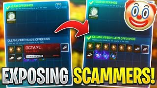 Exposing Scamming CLOWNS on Rocket League...