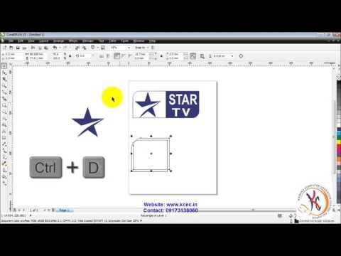 coreldraw tutorial in hindi full 28 Corel Draw   Star Logo