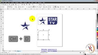 coreldraw tutorial in hindi full 28 Corel Draw   Star Logo