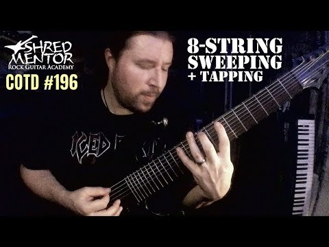 8-String Sweeping with Tapping | ShredMentor Challenge of the Day #196