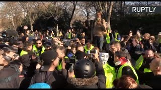 Yellow Vest protest in Paris: Act XIV