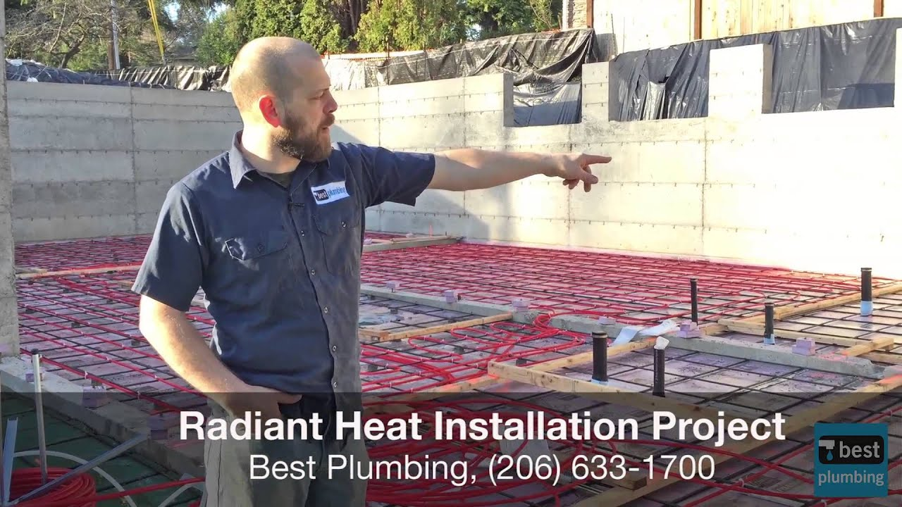 Best flooring for radiant heat - Radiant Floor Heat Installation With Pex And Copper Pipe Best Plumbing Seattle 206 633 1700