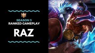 Update 14 Raz is OVERPOWERED! PLEASE BAN! | Konicheebye Raz Ranked Highlights |《傳說對決》
