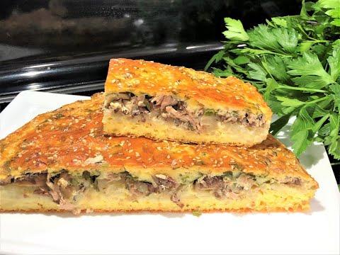 Заливной РЫБНЫЙ ПИРОГ. Вкусный и  бюджетный обед для всей семьи. Пирог с консервированнной рыбой.