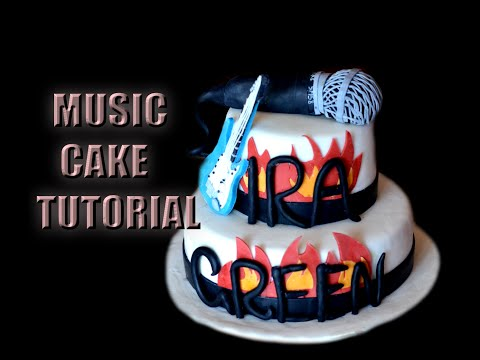 HOW TO MAKE A MUSIC CAKE