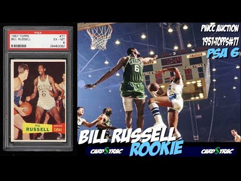 A Rare 1957 Bill Russell Rookie Card Topps 77 Graded Psa 6