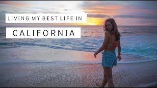 CALIFORNIA pool day & beach sunset | living my best life :)