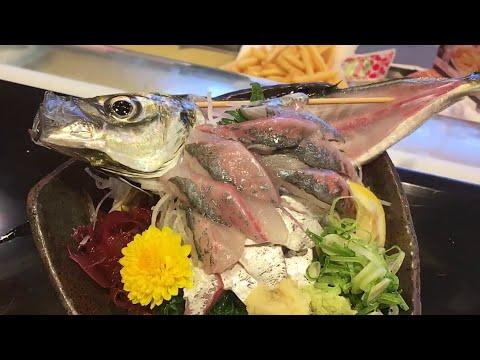 LIVE Fish Sashimi [ Ikizukuri ] | Weird Japanese Food - Eating LIVE Sashimi