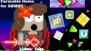 Growtopia | Top 10 Farmable Items For GEMS!