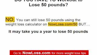 Free weight loss exercise program - Lose 50 lbs. in 5 months