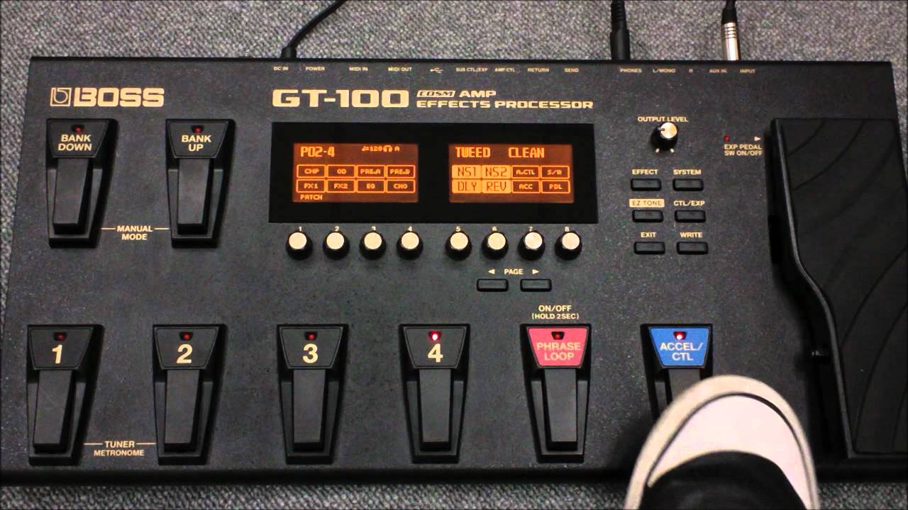 configurando os pedais ctl e express o boss gt 100 youtube rh youtube com Boss GT -10 Owner's Manual Boss GT-8 Patches