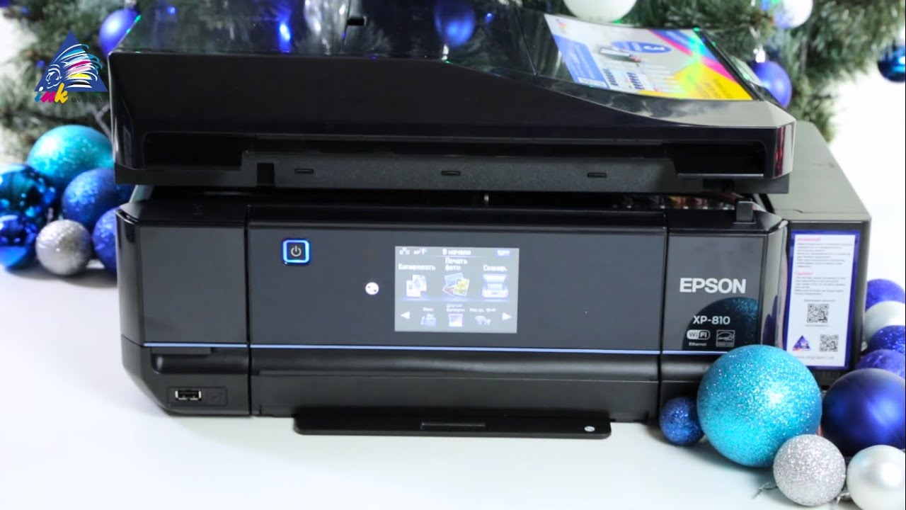 Expression premium xp-810 4-in-1 photo printer with touch-screen and google cloud can print, copy, scan and fax.