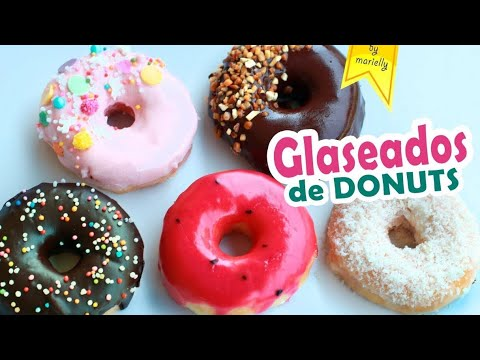 Glaseados Donuts O Donas Recetas By Marielly Youtube