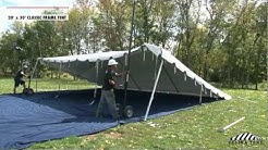 20 x 30 Classic Frame Tent - Installation Procedure