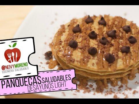 Panquecas Saludables / Desayunos Light