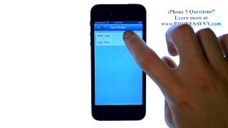 Apple iPhone 5 - iOS 6 - HowTo Change Contact List Sort Order to First Names
