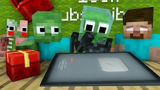 Monster School : unboxing 100.000 subscriber - Minecraft Animation