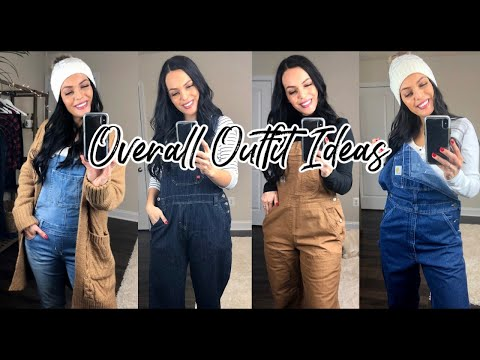 OVERALL OUTFIT IDEAS | HOW TO STYLE OVERALLS | CARHARTT OVERALL TRY ON HAUL