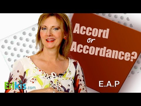 Accord versus in accordance with
