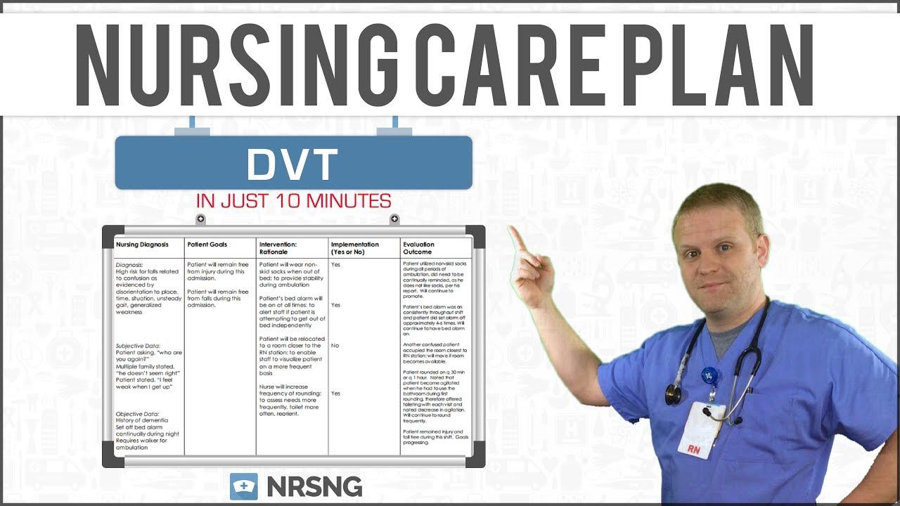 deep vein thrombosis dvt nursing care plan tutorial youtube