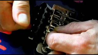 How to Re-string a Floyd Rose Guitar Tremolo System