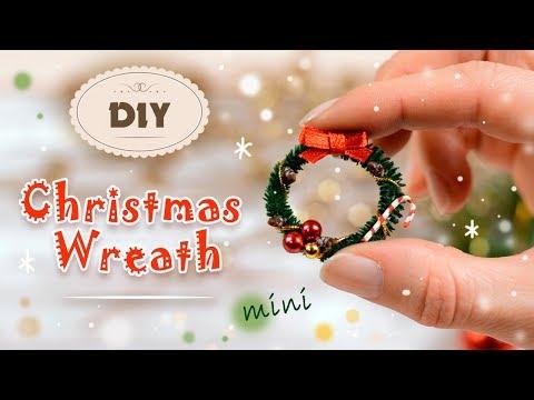 Easy Miniature Christmas Wreath Tutorial  For Dollhouse