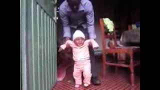 Nati is walking wtih my support  ናቲ እየተራመደ